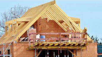Hausbau Dachstuhl