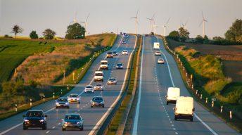 Autos auf der Autobahn