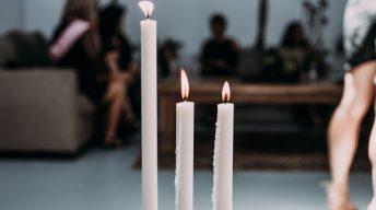 Kerzen brennen runter