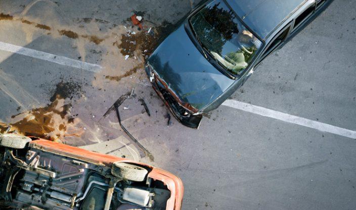 Autounfall von oben